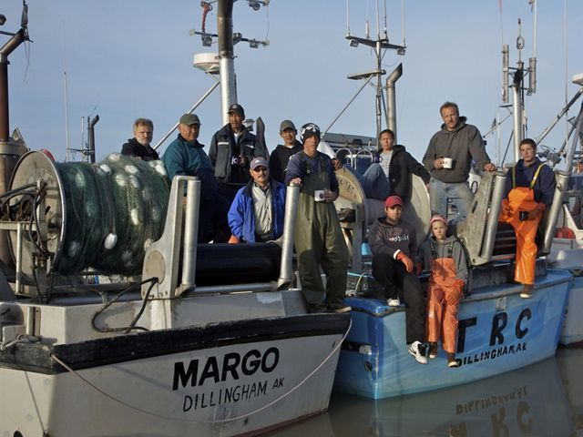 Commercial salmon fishermen in Alaska's Bristol Bay