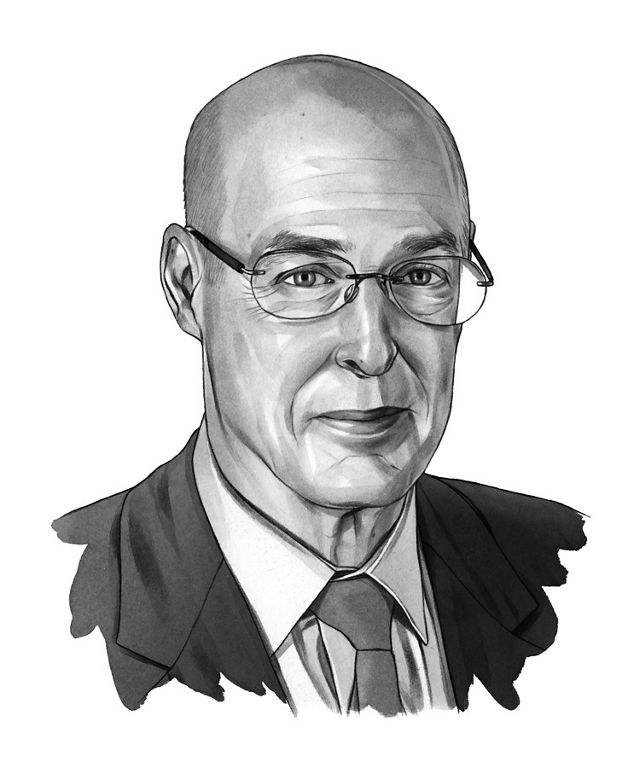 Black-and-white portrait of Henry Paulson