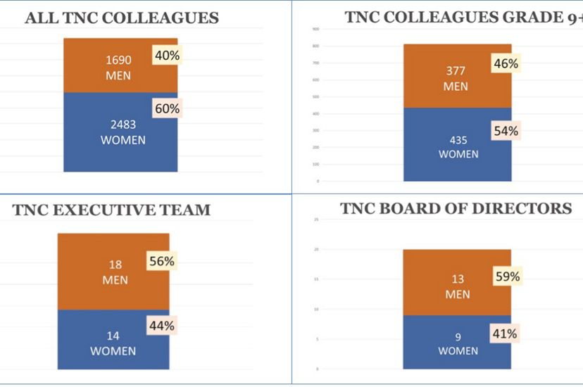The Nature Conservancy employees by gender (chart)
