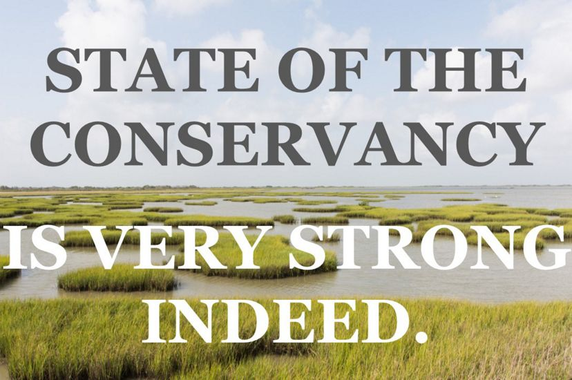 The State of The Nature Conservancy is very strong.