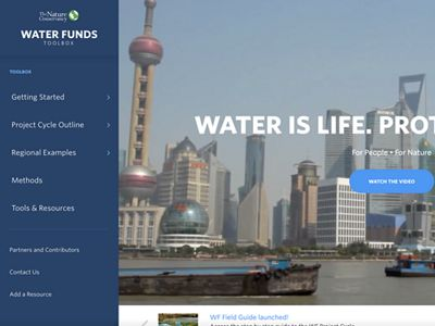 Step-by-step web tool to help local champions replicate and implement water funds.