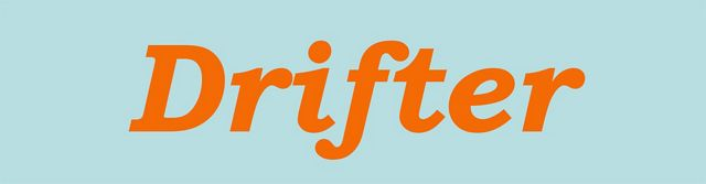 Text in italics that says 'Drifter'.