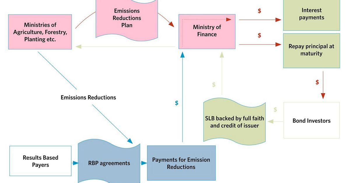 Flow chart displaying how Sustainable Land Bonds work.