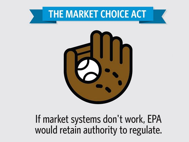 Info-graphic: The Market Choice Act - If market systems don't work EPA would retain authority to regulate.
