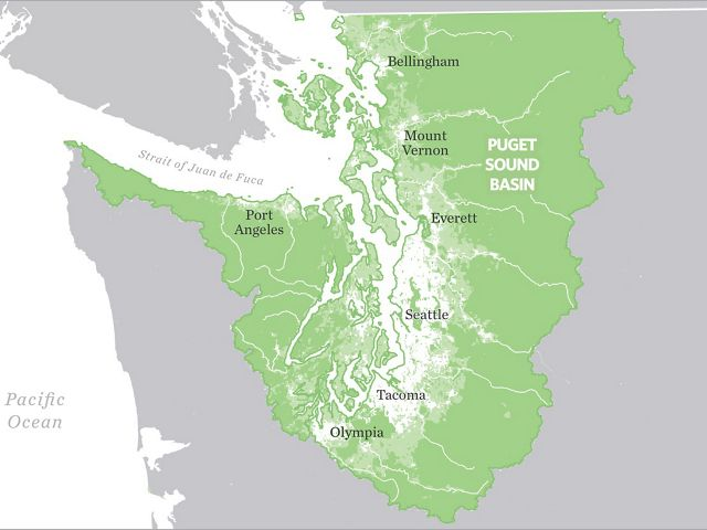 map of the Puget Sound Basin