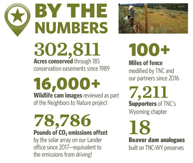 Conservation numbers from annual report.
