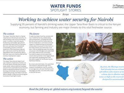 Screenshot of Water Funds Spotlight document