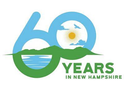 60th Anniversary logo for TNC in New Hampshire.