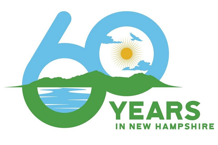60 years of conservation in New Hampshire logo