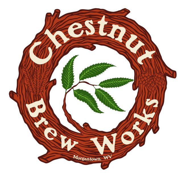 Circle-shaped logo for West Virginia's Chestnut Brew Works