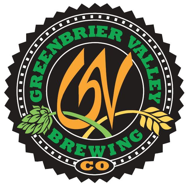 Black, green and orange logo for West Virginia's Greenbrier Valley Brewing Company