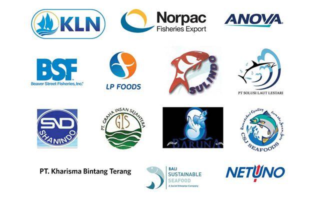 A group of company logos.