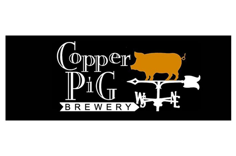 Logo for the Copper Pig Brewery in Lancaster, New Hampshire.