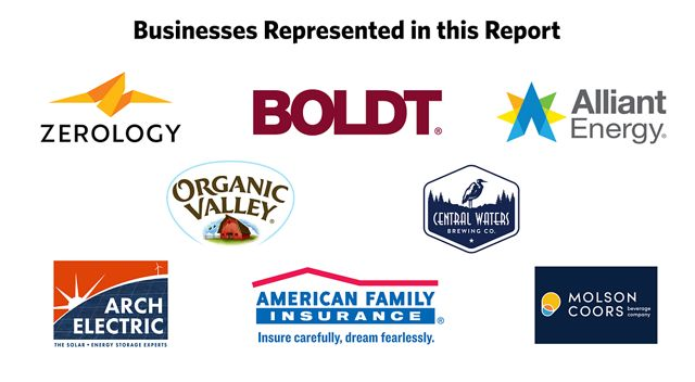 8 logos from businesses represented in this report.