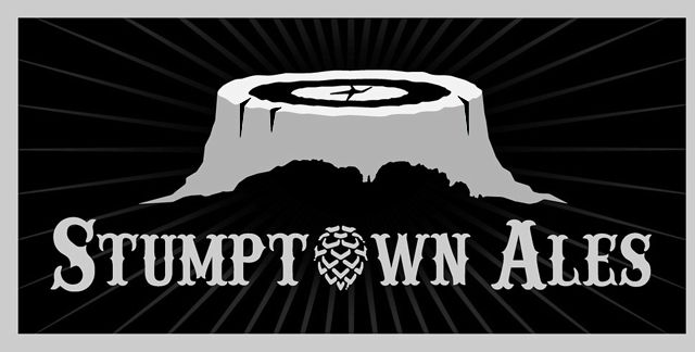 Black and gray logo for West Virginia's Stumptown Ales
