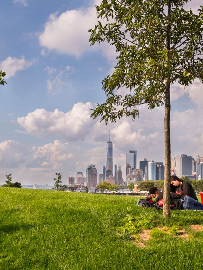 View of Manhattan skyline from Governors Island.