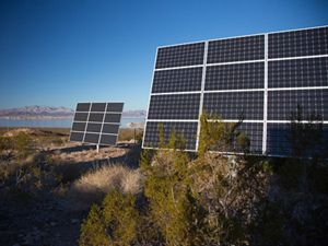 Solar panels, Lake Mead.