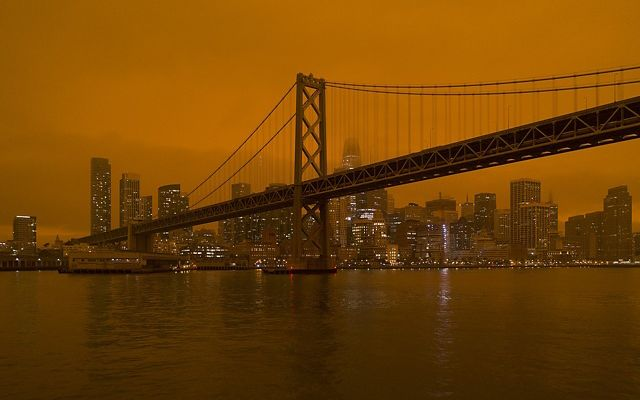 Smoke from the North Complex fire settles over San Francisco.