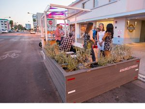 Parklet in downtown Las Vegas, Nevada.