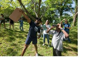 Participants in the City Nature Challenge birdwatch in Austin, Texas.