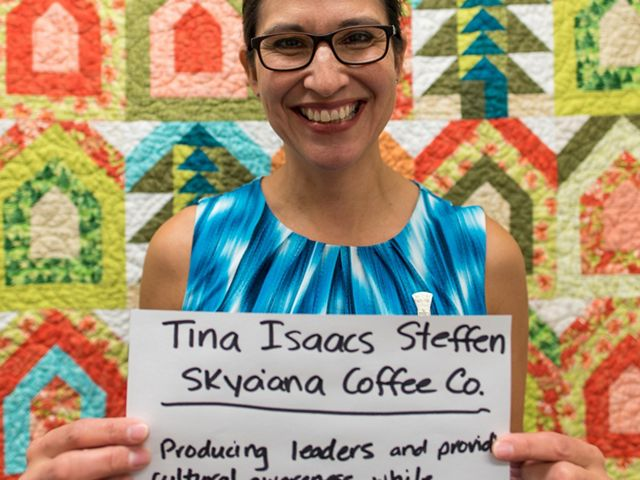 Tina Isaacs and her Skya'ana Coffee Co. received a Path to Prosperity prize.
