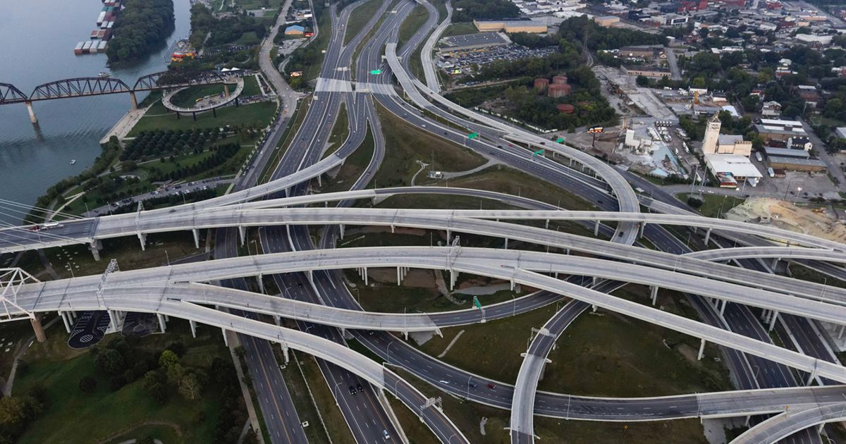 The Spaghetti Junction in Louisville, Kentucky.