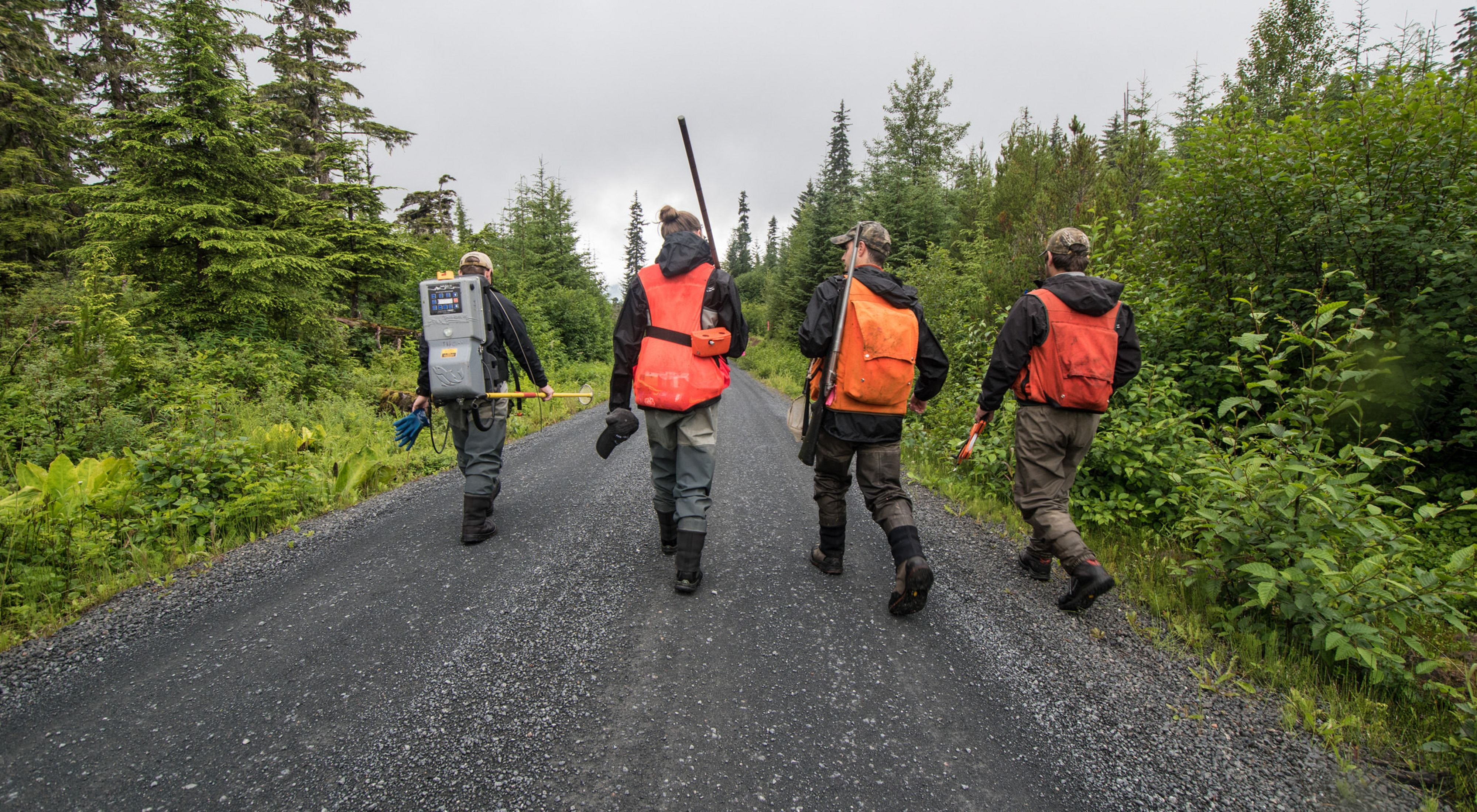 Members of Hoonah Native Forest Partnership field crew