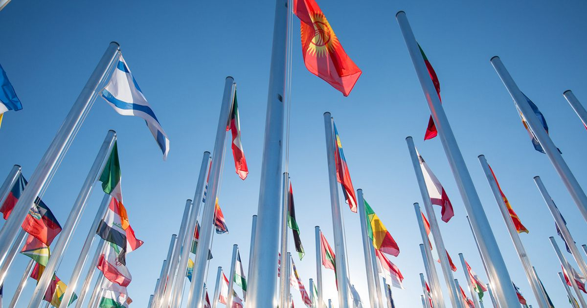 Flags at COP22 in Marrakech, Morocco.