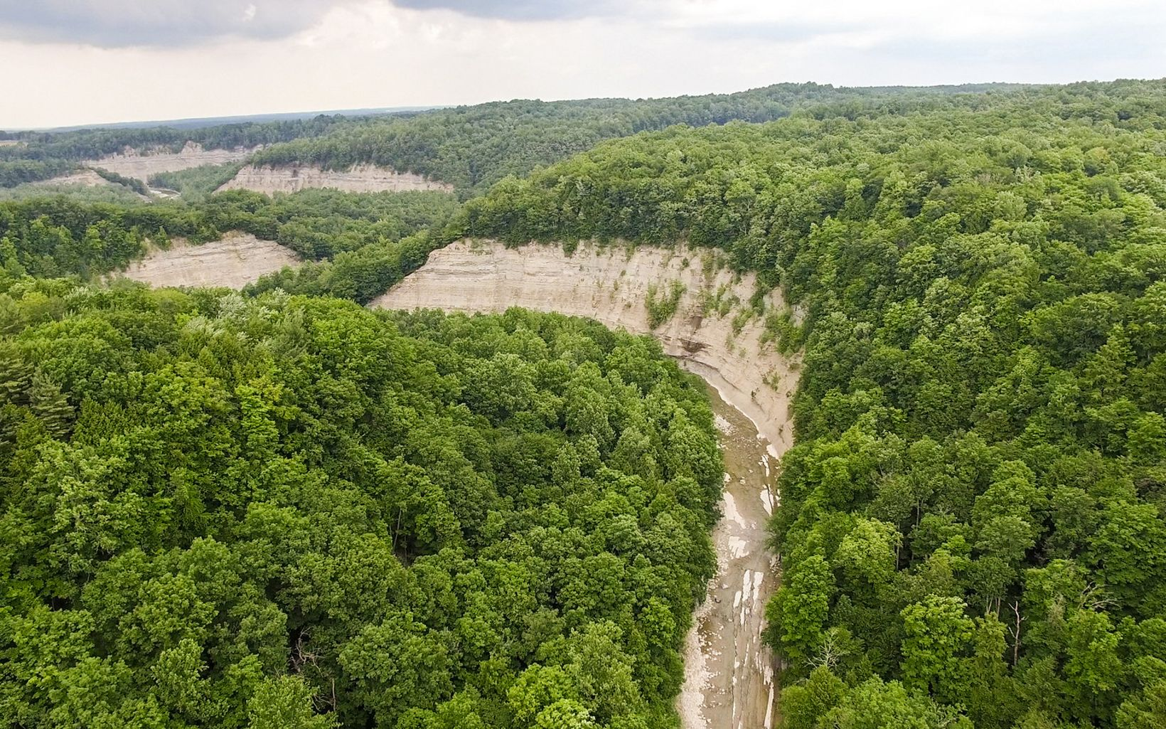 Aerial footage of Zoar Valley