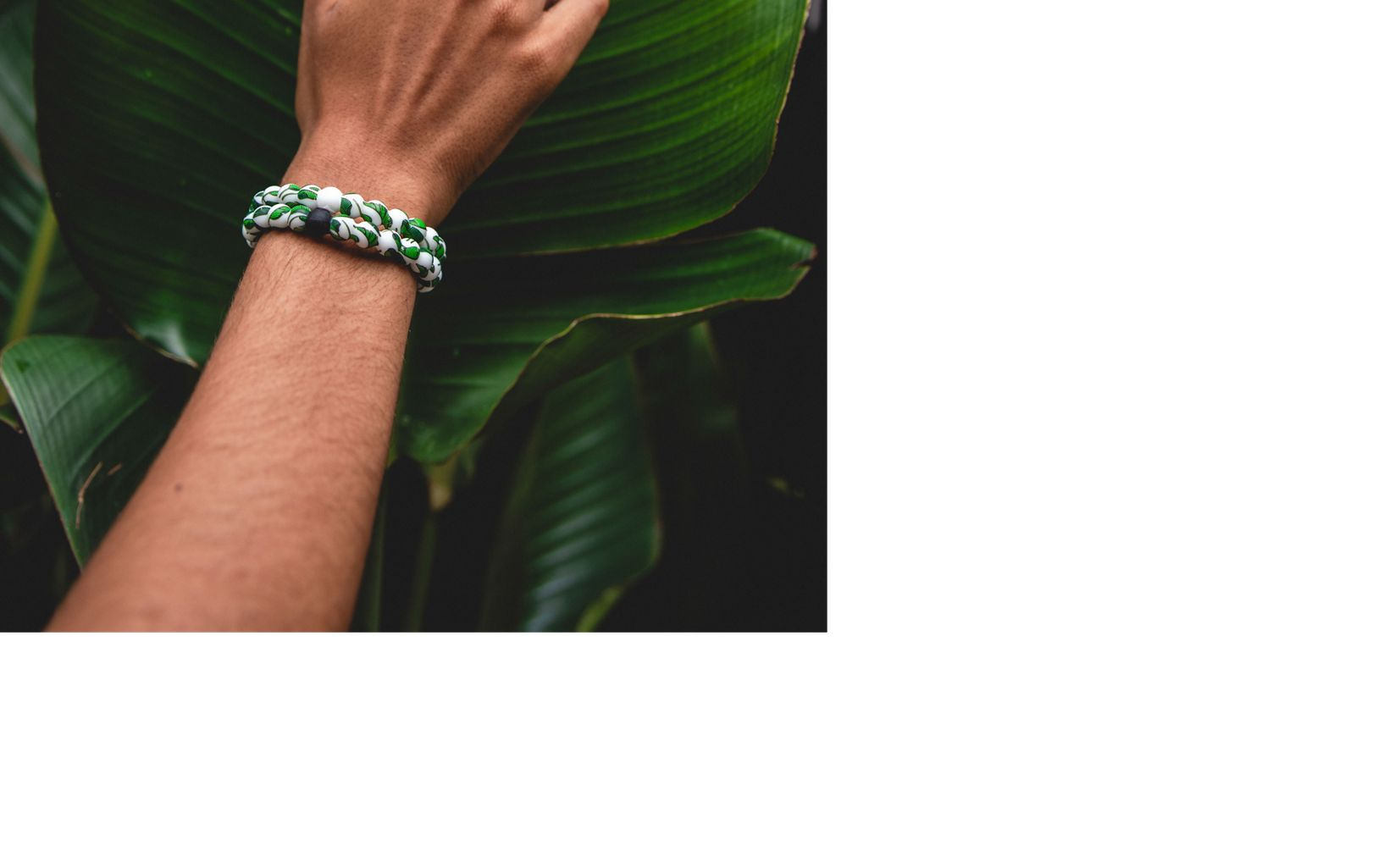 Banana Leaf Lokai - supporting our rainforests in Brazil.