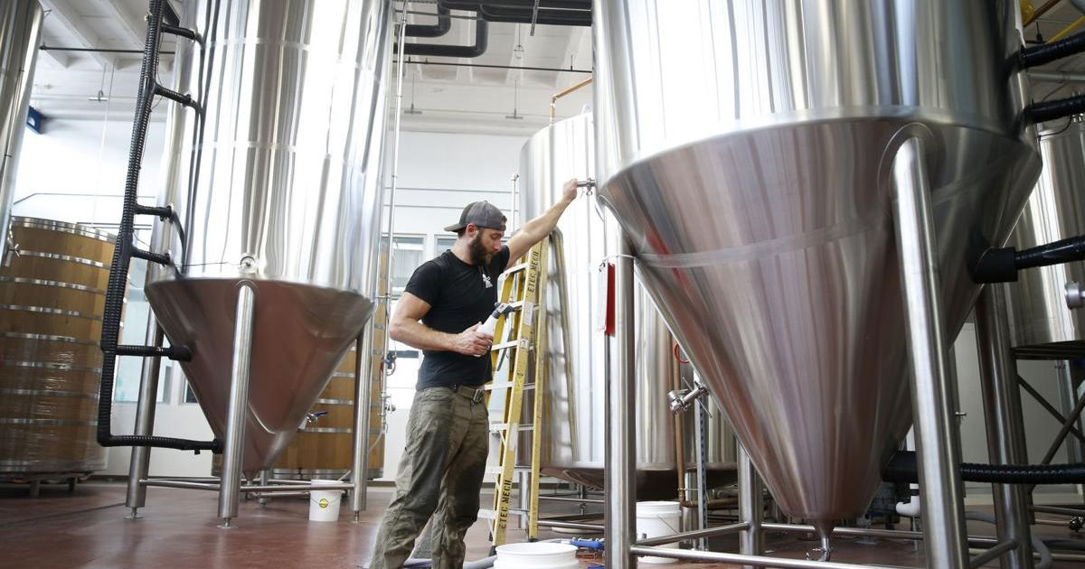 Tony Giordano, co-founder and brewmaster, at work at Väsen Brewing.