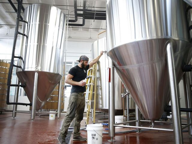 Tony Giordano, co-founder and brewmaster, at work at Vasen Brewing.