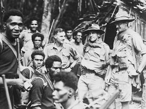 Papua New Guinean men and soldiers