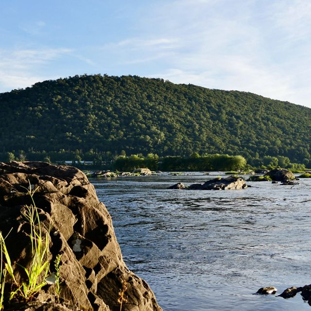 Cove Mountain as seen from the east bank of the Susquehanna River at sunset.