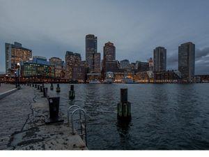 Boston, Massachusetts in the evening.