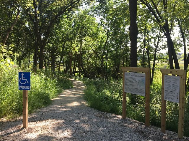 This trail at our Pickerel Lake Fen Preserve is accessible to people who use other power-driven mobility devices to help them get around.