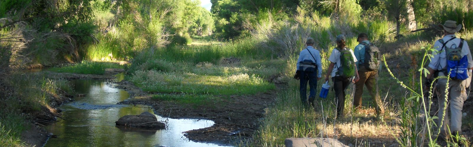 Researchers conduct wet-dry mapping in the San Pedro River in Arizona.