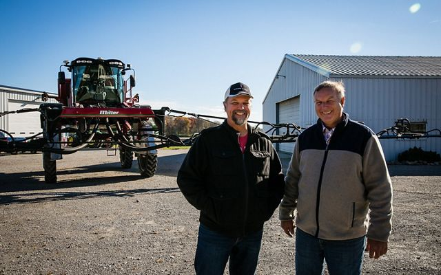 Today Allen Dean (right) is 100 percent no-till on his 1,900-acre Ohio farm.