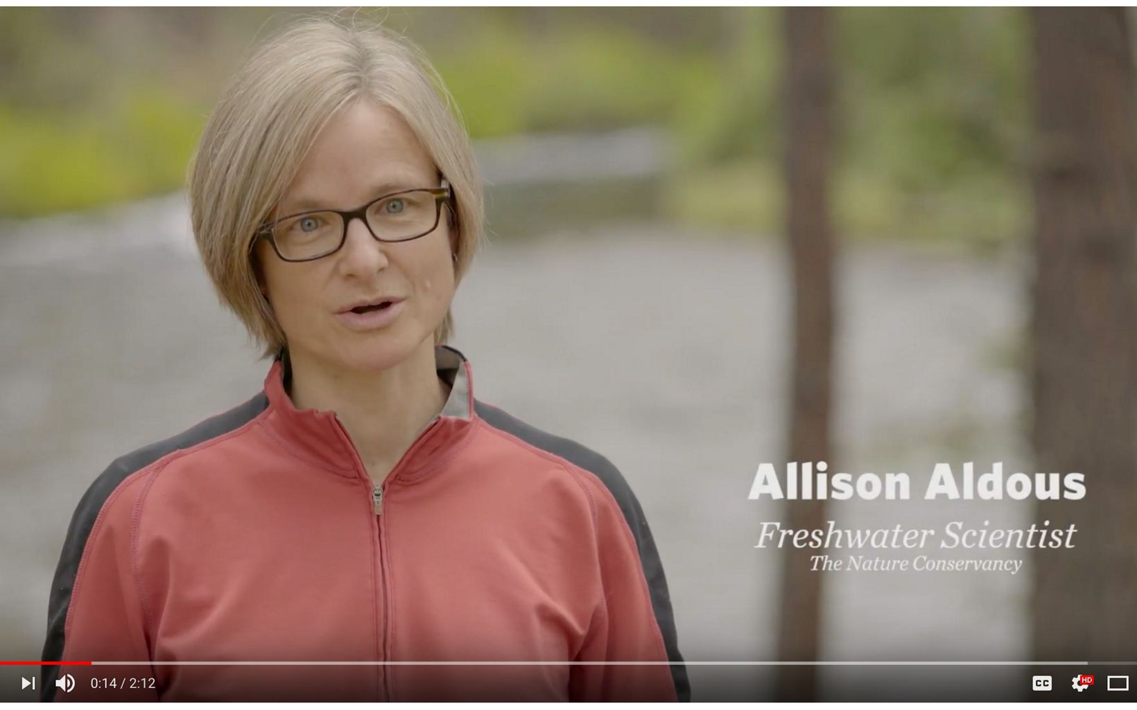 Oregon Freshwater Scientist Allison Aldous