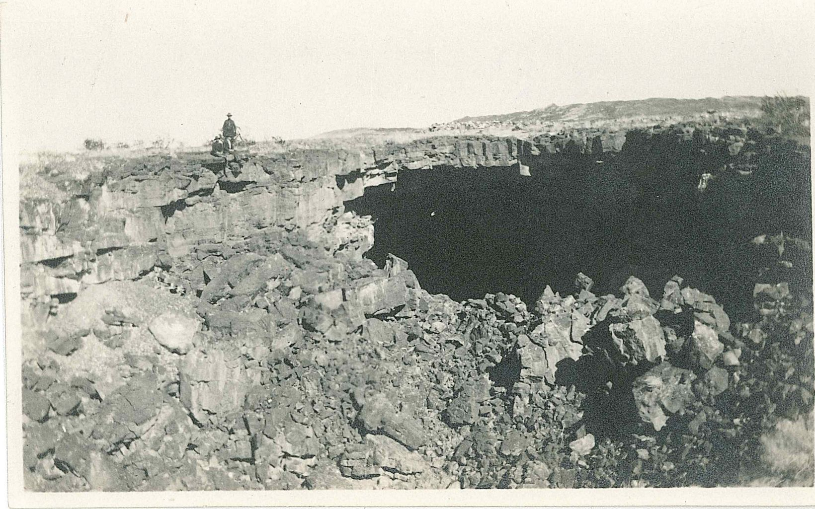 """This photo was taken in 1915 for use in """"Economic Geology of the Pedro Armendaris Land Grant in South Central New Mexico."""""""