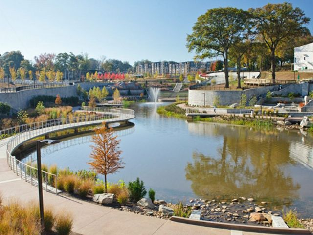 Atlanta's Historic Fourth Ward Park is an example of how cities can use greenspace and green infrastructure to manage stormwater issues and revitalize urban neighborhoods.