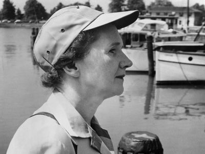 Environmentalist Rachel Carson, author or the ground breaking environmental book, Silent Spring