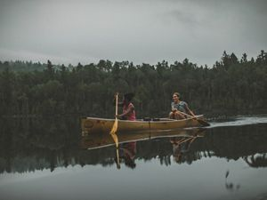 Canoeists in the Boundary Waters Canoe Area Wildnerness.