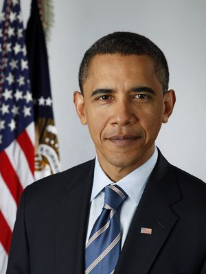 Official portrait of President Barack Obama on Jan. 13, 2009.