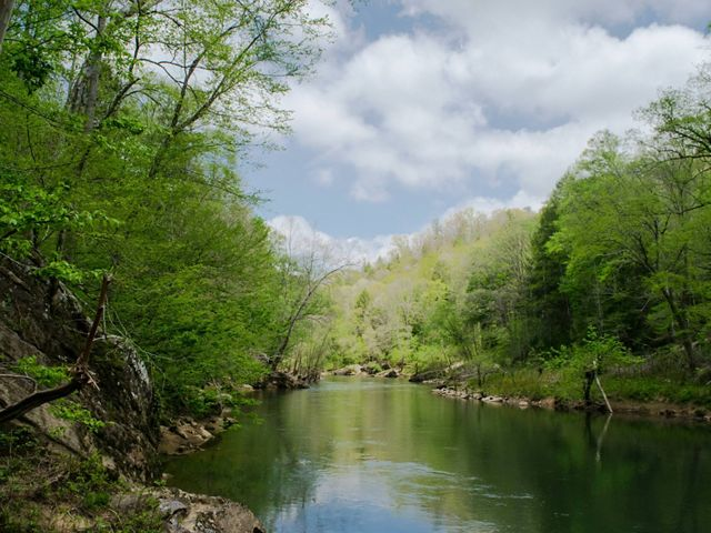 Photo of the Rockcastle River in eastern Kentucky.