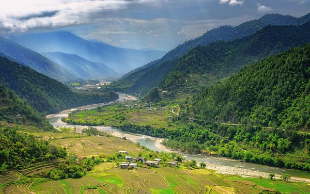 Bhutan is the world's only carbon-negative country, where dense forests absorb more greenhouse gases that the nation emits.