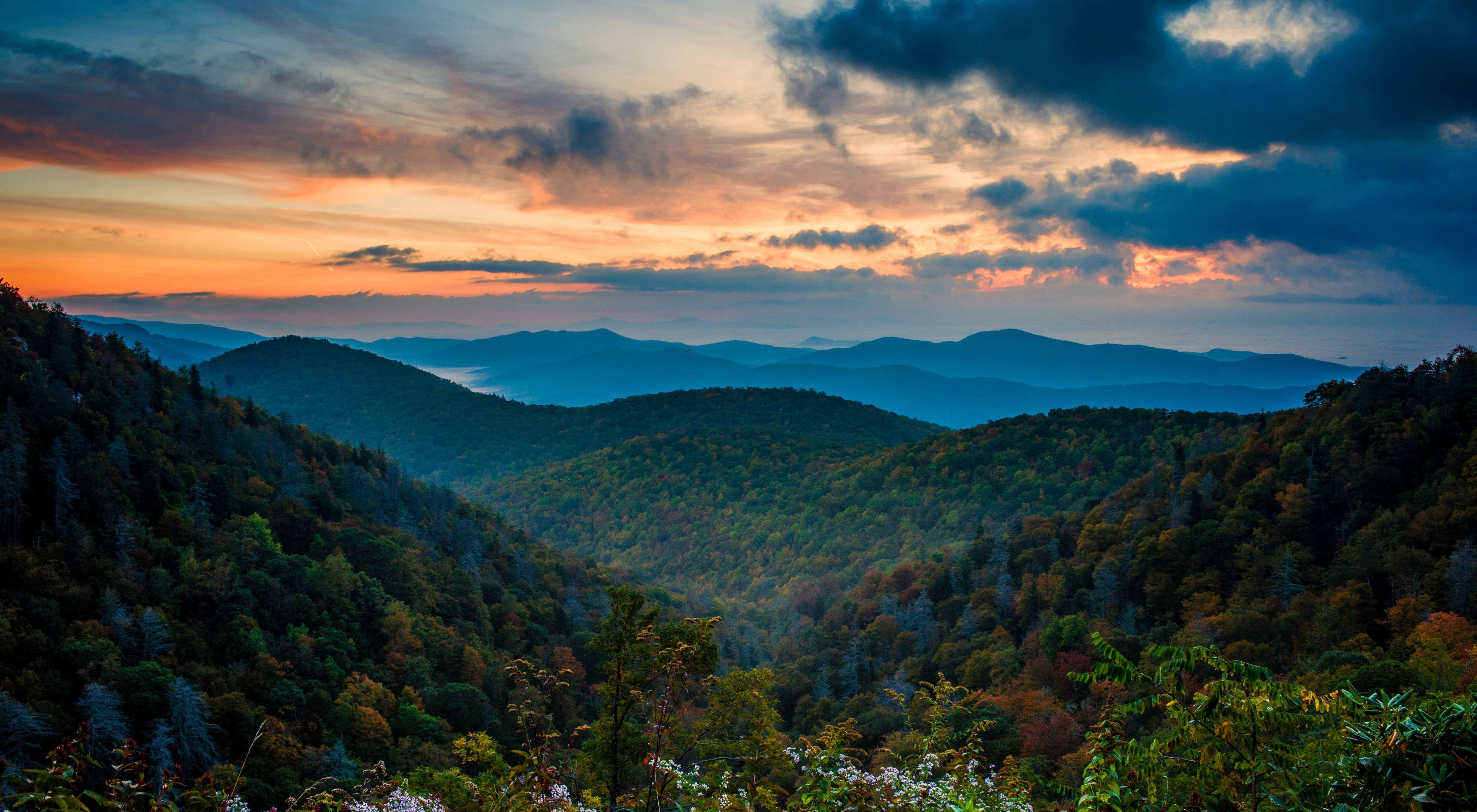 Blue Ridge Parkway in western North Carolina.