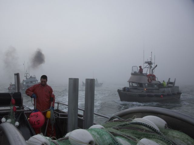 Commercial drift boats prepare to begin fishing in Bristol Bay