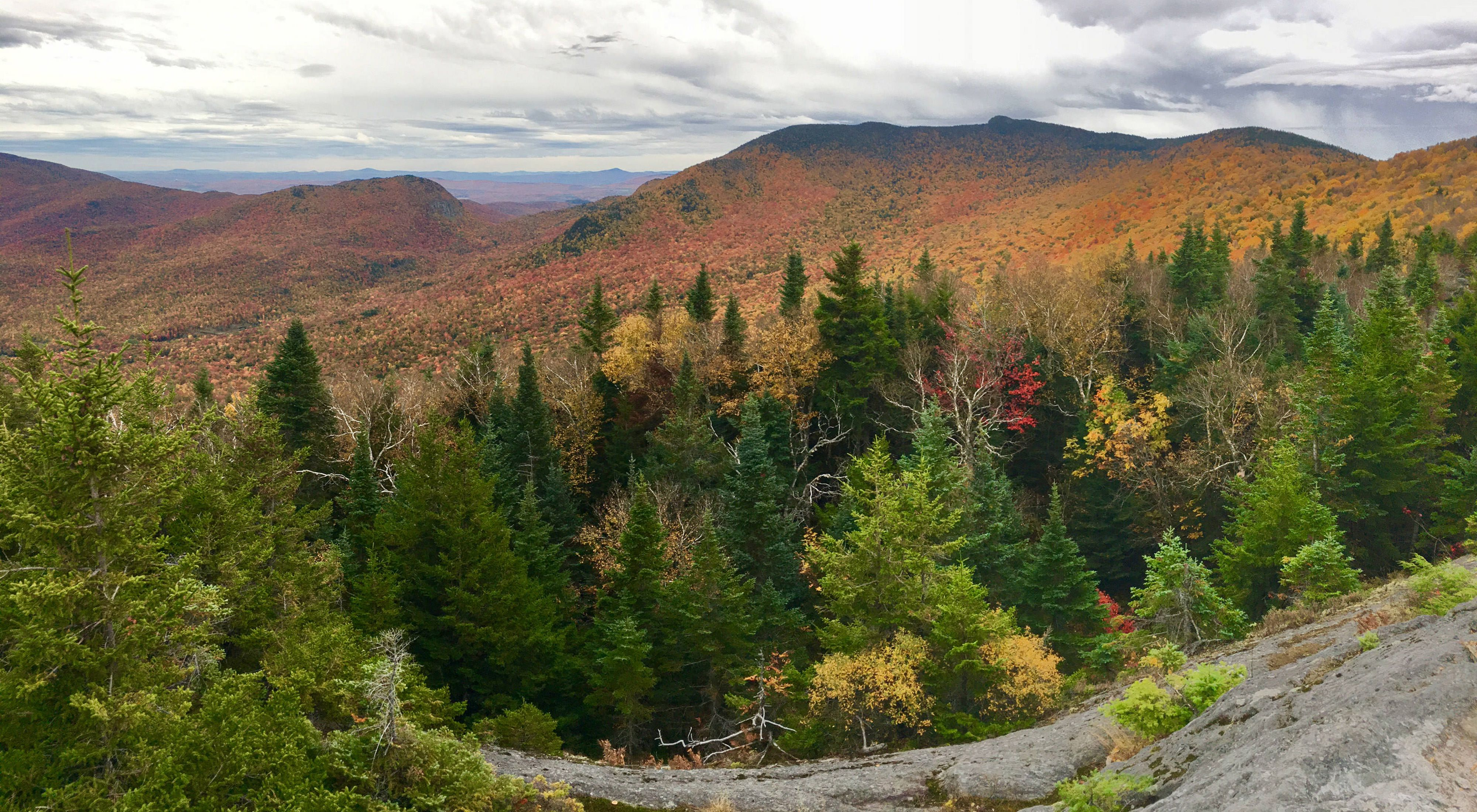 Autumn at Burnt Mountain in the Northeast Kingdom of Vermont.