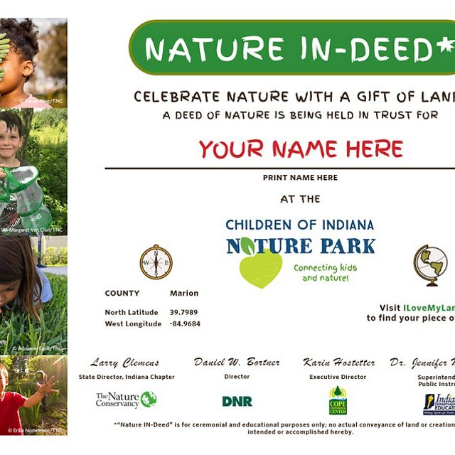 Nature IN-Deed for the Children of Indiana Nature Park